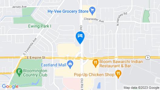 Best Western Plus Bloomington East Hotel Map