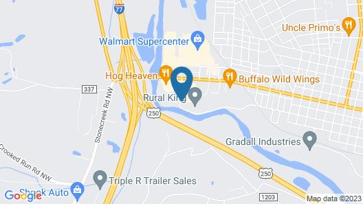 Super 8 Motel - New Philadelphia Map