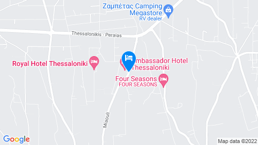 Ambassador Hotel Thessaloniki Map