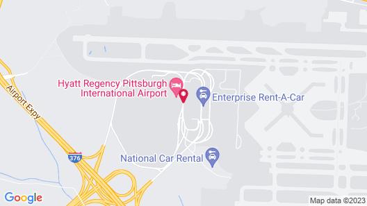 Hyatt Regency Pittsburgh International Airport Map
