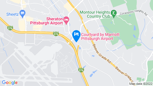 Courtyard by Marriott Pittsburgh Airport Map