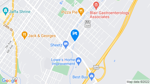 Microtel Inn & Suites By Wyndham Altoona Map