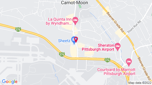 Super 8 by Wyndham Pittsburgh Airport/Coraopolis Area Map