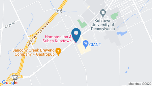 Hampton Inn & Suites Kutztown, PA Map