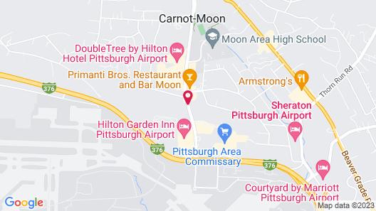 Americas Best Value Inn Pittsburgh Airport Map