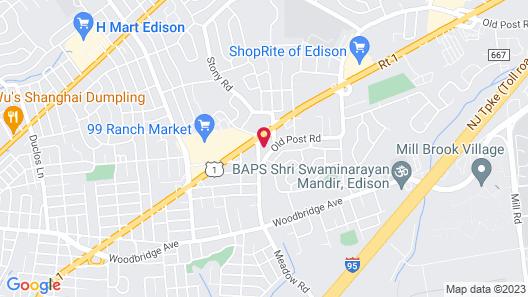 OYO Hotel Edison NJ Route 1 Map