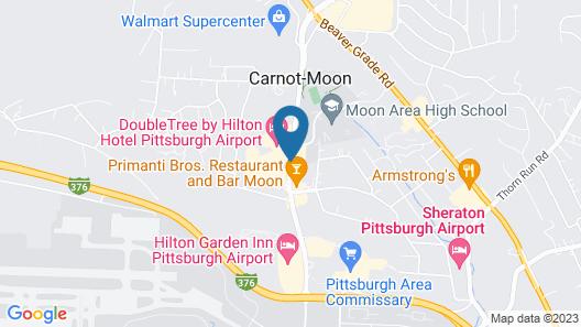 Hampton Inn Pittsburgh Airport Map
