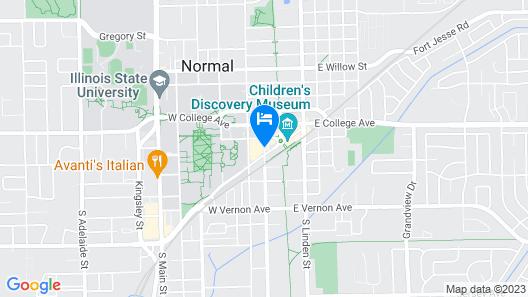Hyatt Place Bloomington/Normal Map