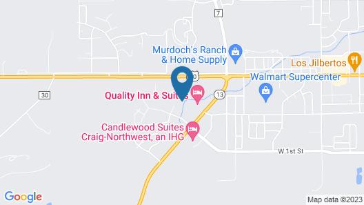 Hampton Inn & Suites Craig Map