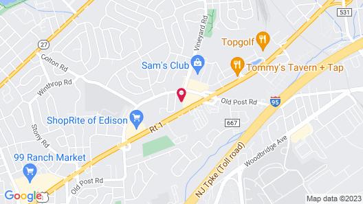 Comfort Inn Edison - New Brunswick Map