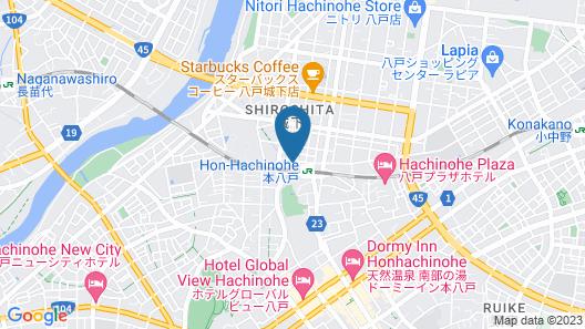 Hotel Route-Inn Honhachinohe Ekimae Map
