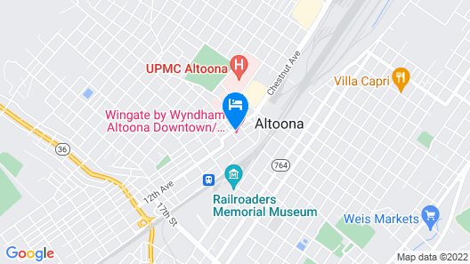 Wingate by Wyndham Altoona Downtown/Medical Center Map