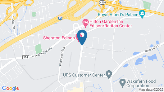Sheraton Edison Map