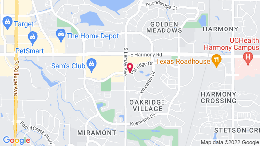 Residence Inn By Marriott Fort Collins Map