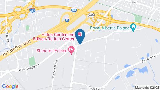 Hilton Garden Inn Edison/Raritan Center Map