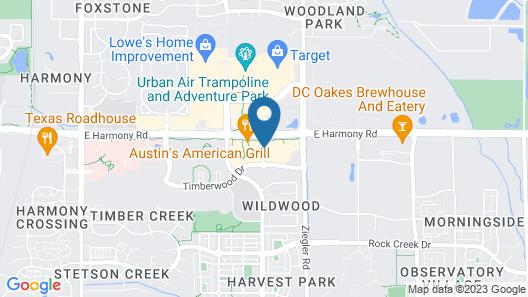 Hilton Garden Inn Fort Collins Map