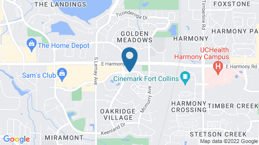 Homewood Suites by Hilton Fort Collins Map