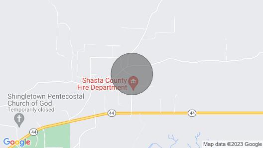 New! Base Camp Lassen, 13 Mi to Volcanic Natl Park Map