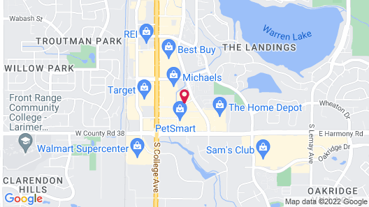 Candlewood Suites Fort Collins, an IHG Hotel Map