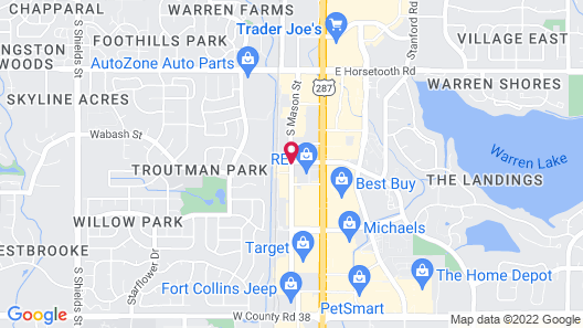 Quality Inn & Suites University Fort Collins Map