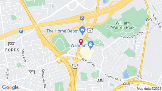 Hampton Inn Woodbridge Map