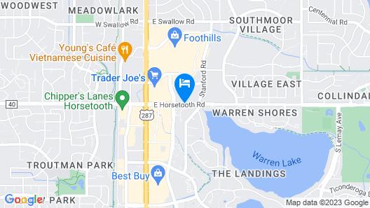 Fort Collins Marriott Map