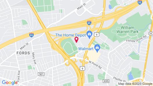 Extended Stay America Suites Newark Woodbridge Map