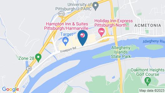 Hampton Inn & Suites Pittsburgh/Harmarville Map
