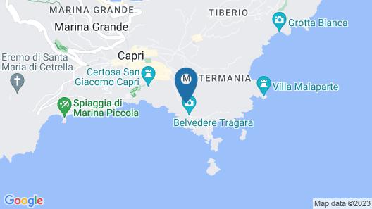 Villa Mariuccia Capri Map