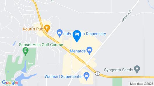 Hampton Inn & Suites Pekin Map