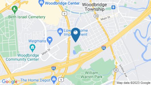 Residence Inn Woodbridge Edison/Raritan Center Map