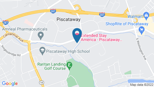 Extended Stay America Piscataway - Rutgers University Map