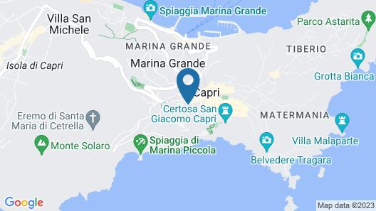 Villa Castello Apartments Capri Map