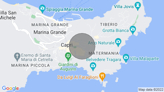 Beautiful villa in the center of Capri with garden close to shopping area Map