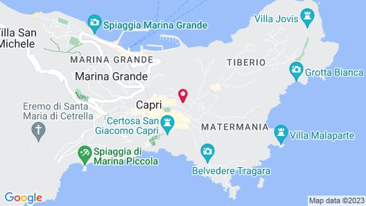 Capri Tiberio Palace Map