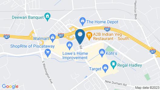 Motel 6 Piscataway, NJ Map