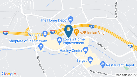 Holiday Inn South Plainfield-Piscataway Map