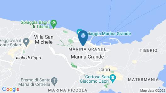 Aquamarine Relaxing Capri Suites Map