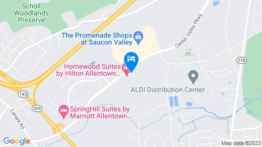Homewood Suites by Hilton Allentown Bethlehem Center Valley Map