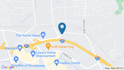 Red Carpet Inn & Suites South Plainfield/Piscataway Map