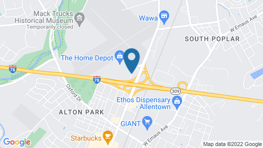 Red Roof Inn Allentown South Map