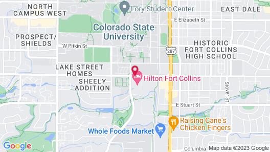 Hilton Fort Collins Map