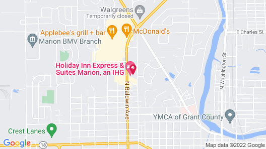 Holiday Inn Express And Suites Marion, an IHG Hotel Map