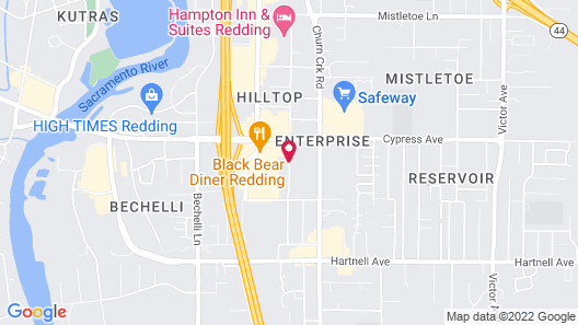 SureStay Plus Hotel by Best Western Redding Map