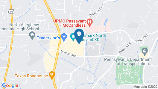 Fairfield Inn & Suites by Marriott Pittsburgh North/McCandless Crossing Map