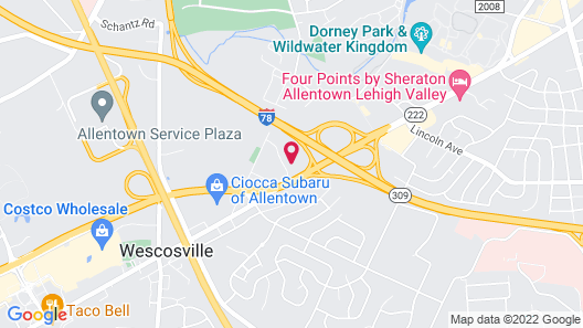 Holiday Inn Allentown-bethlehem, an IHG Hotel Map