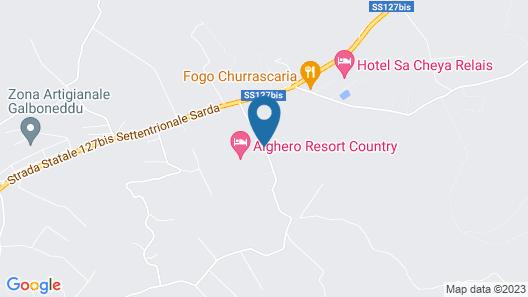 Alghero Resort Country Hotel Map