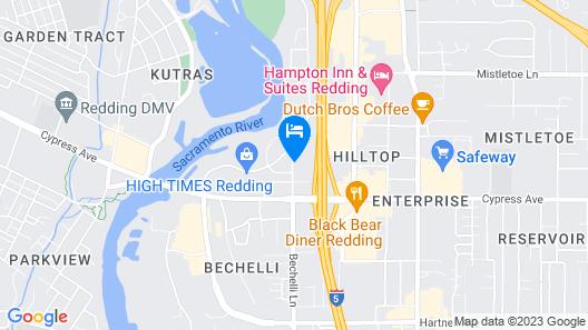 Motel 6 Redding, CA - South Map