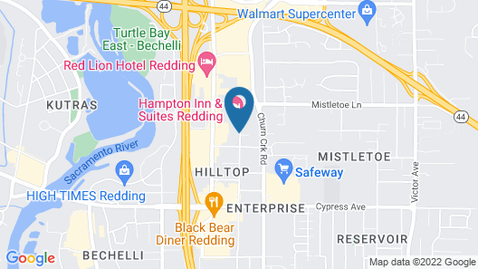 TownePlace Suites Redding Map