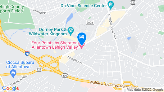 Four Points by Sheraton Allentown Lehigh Valley Map